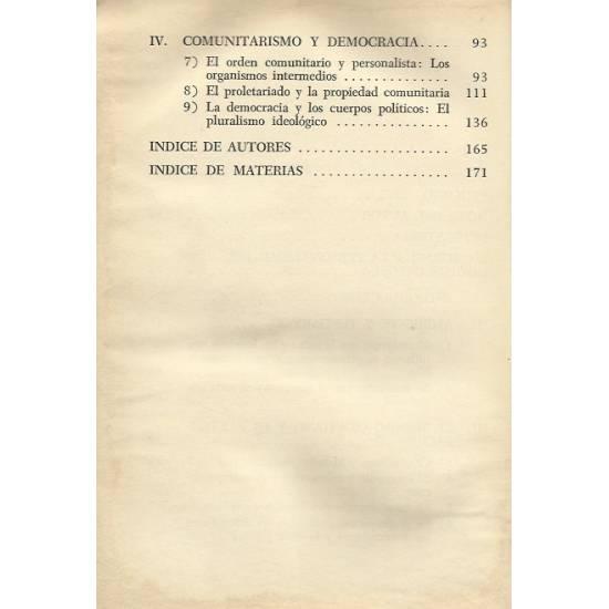 Jacques Maritain y la sociedad comunitaria