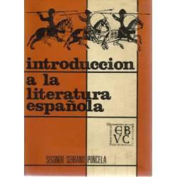 Introduccion a la literatura espanola