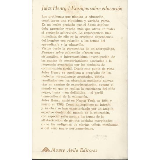 Ensayos sobre educacion