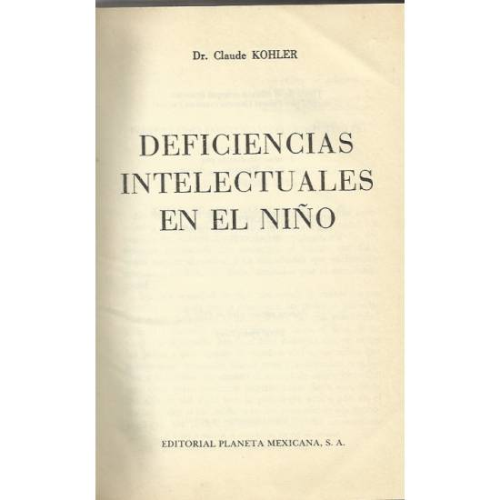Deficiencias intelectuales del nino