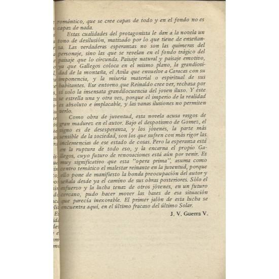 Reinaldo Solar (novela) R. Gallegos