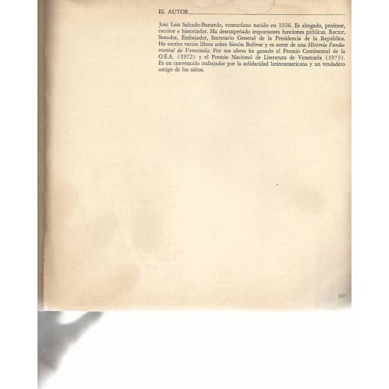 Un hombre diafano (Simon Bolivar)