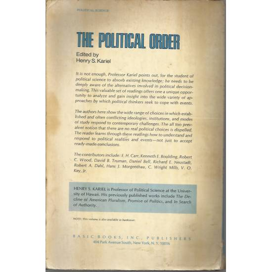 The political order