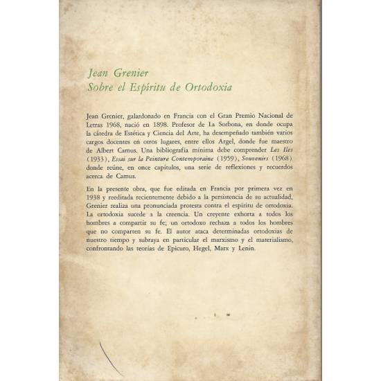 Sobre el espiritu de ortodoxia