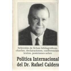Politica internacional del Dr. Rafael Caldera