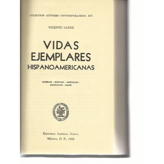 Vidas ejemplares hispanoamericanas