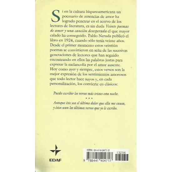 Veinte poemas de amor y una cancion desesperada Pablo Neruda