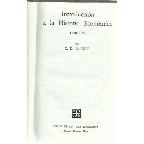 Introduccion a la historia economica 1750-1950