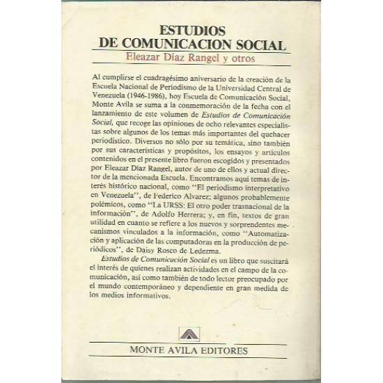 Estudios de comunicacion social