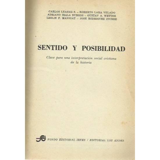 Sentido y posibilidad (Interpretación social cristiana de la historia)