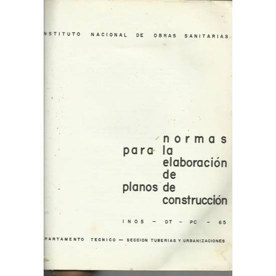 Normas para la elaboración de planos de construcción