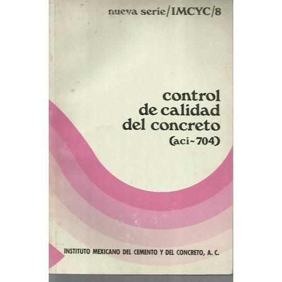 Control de calidad del concreto