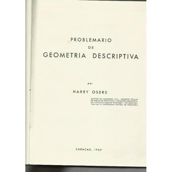 Problemario de geometría descriptiva