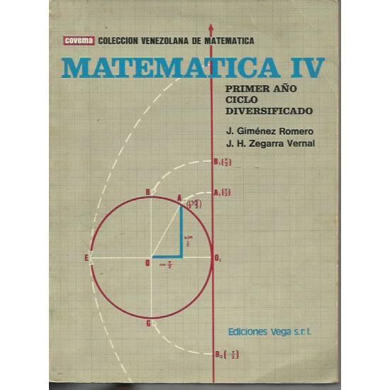 Matemática IV Primer año Ciclo Diversificado