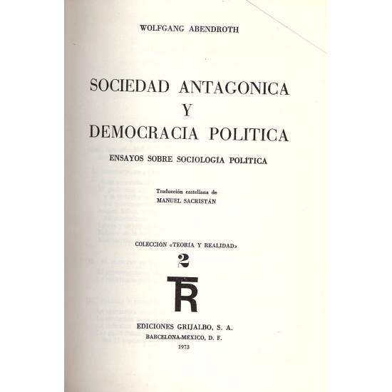 Sociedad antagonica y democracia politica