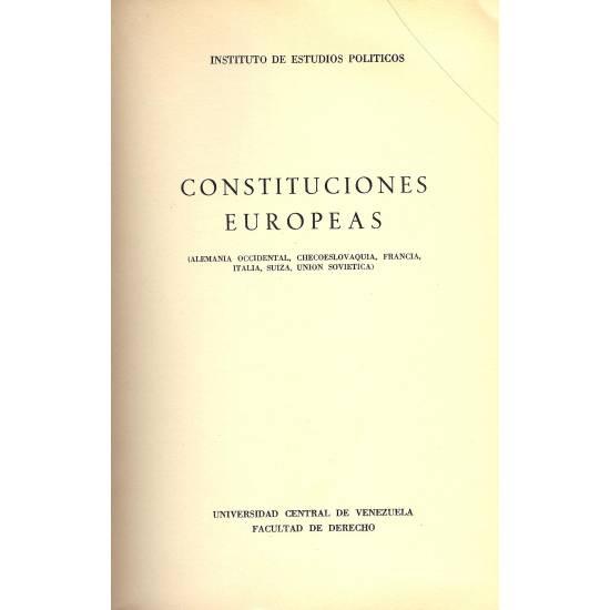 Constituciones Europeas