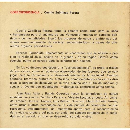 Correspondencia I de Cecilio Zubillaga Perera n 3