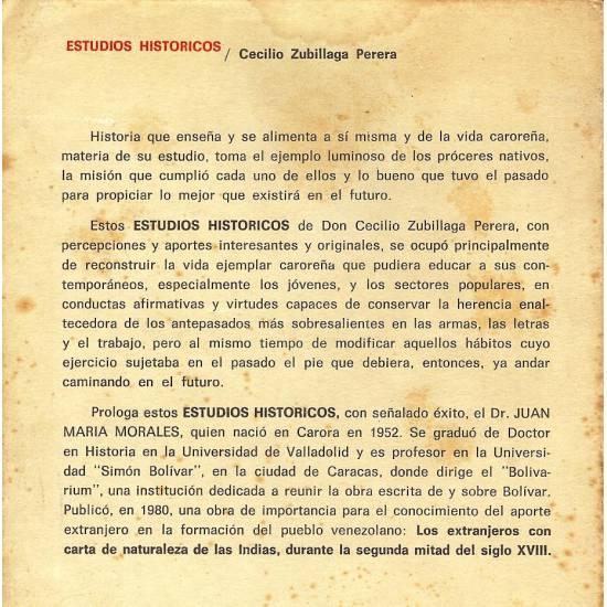 Estudios Historicos Cecilio Zubillaga Perera n 2