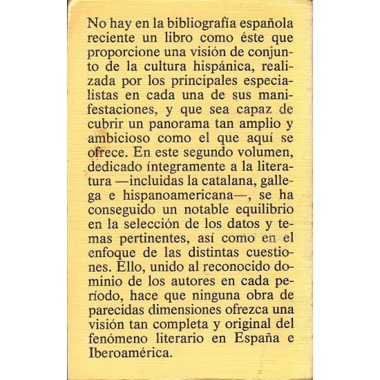 Introduccion a la cultura hispanica. Vol. II.