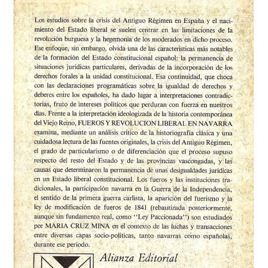 Fueros y revolucion liberal en Navarra