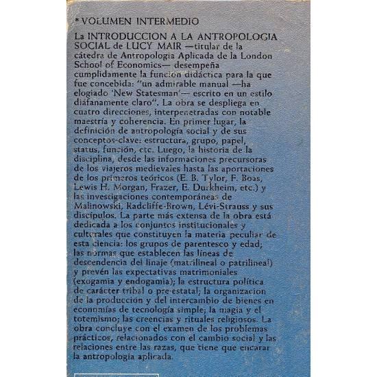Introduccion a la antropologia social
