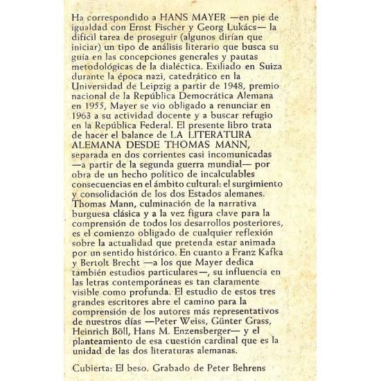 La literatura alemana desde Thomas Mann