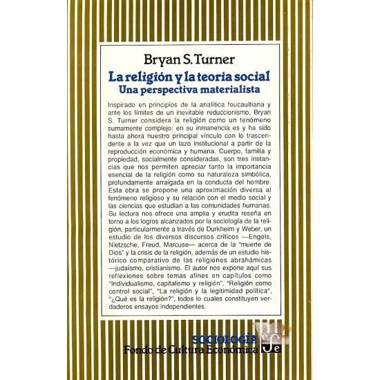 La religion y la teoria social