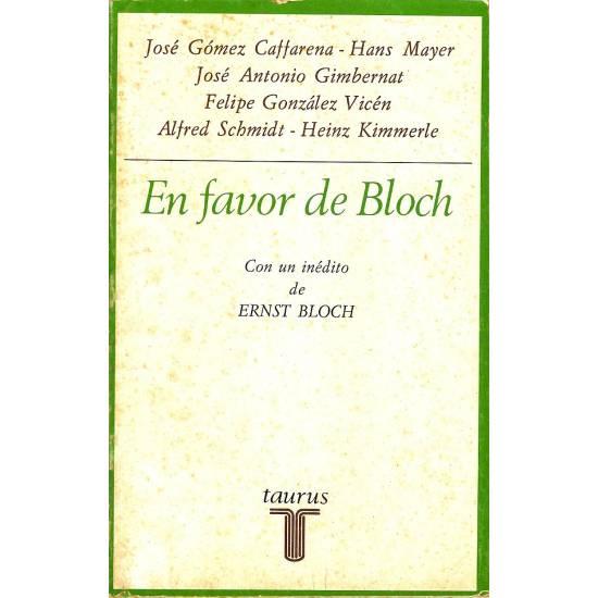 En favor de Bloch