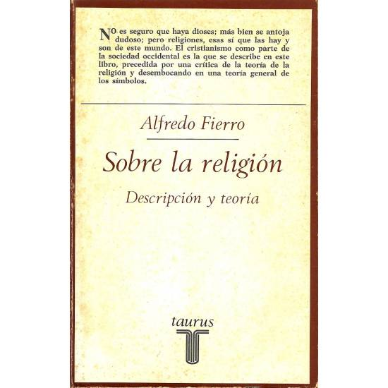 Sobre la religion. Descripcion y teoria.