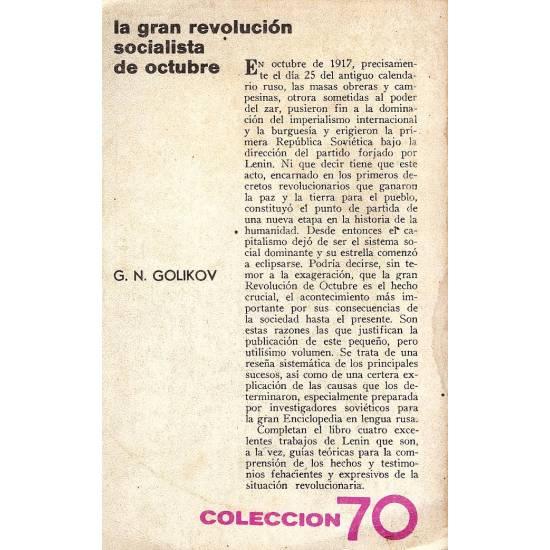 La gran revolucion socialista de octubre
