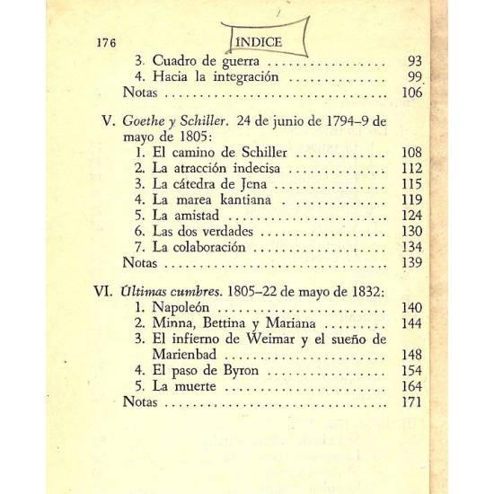 Trayectoria de Goethe