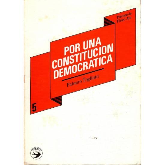Por una constitucion democratica