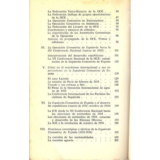 El movimiento trotskista en Espana. (1930-1935)