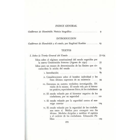 Escritos politicos. Guillermo de Humboldt