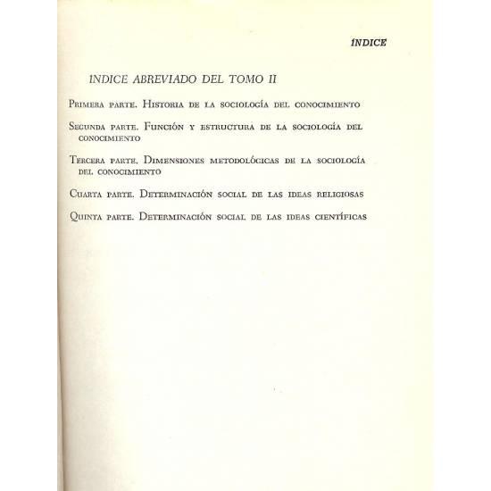 Historia y elementos de la sociologia del conocimiento. Tomo 2.